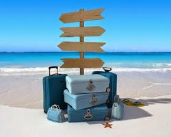 malas de viagem praia