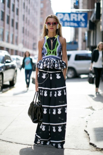 4 Pineapple Print Street Style Looks We Love Natalie Joos 4