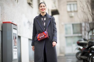 MILAN, ITALY - FEBRUARY 27: Caroline Issa is wearing a Hermes bag seen in the streets of Milan during the Milan Fashion Week Fall/Winter 2016/17 on February 27, 2016 in Milan, Italy. (Photo by Timur Emek/Getty Images)