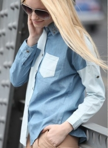 patchwork-rivet-jeans-shirts-for-women-blue-cansual-blouse-long-sleeve-fashion-clothes-2013-summer-autumn